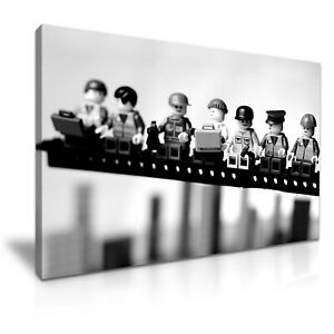 Lego Lunch Atop a Skyscraper Funky Canvas Modern Home Art ~ 5 Size to Choose