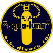 Aqua Lung US Divers decal sticker Aufkleber diver scuba tank diving Tauchen New