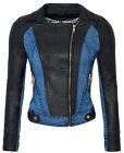 Femmes Veste en simili-cuir mi-saison JEANS COURT similicuir D-147 NEUF