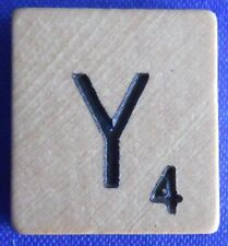 Single Scrabble Natural Wood Letter Y Tile One Only Replacement Game Part Pieces