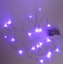 7' battery operate string of Led Purple lights Halloween Cosplay Costume Lighted