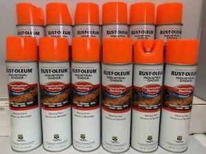 Water Based Construction Marking Paint, Case of 12, 17 oz, Flourescent Orange