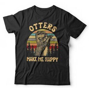 Otters Make Me Happy Tshirt Unisex & Kids - Wildlife, Cute, Furry, Animals