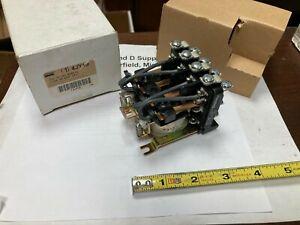 Dayton 4JY19, Power Relay, 14 Pin, 24VAC, 35 Amp@277V, 4PDT