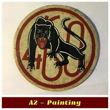 WW2 Hand Painted 460th Bomb Group Leather Patch For A2 Jacket Aged Affect