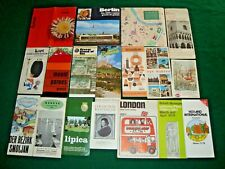 Huge vintage lot of world rare travel brochures & maps #2