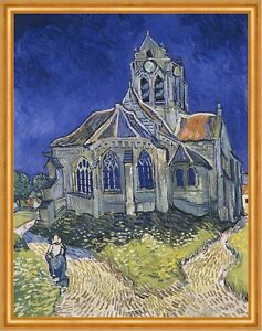 The Church in Auvers-sur-Oise Vincent van Gogh Frankreich Kirchen B A2 03327