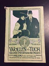 Catalogo Ditta Wollen Tuch inverno 1908 1909 Milano Via Vittoria Tessuti Stoffe