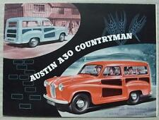 AUSTIN A30 COUNTRYMAN Car Sales Brochure c1954 #1137
