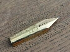 14kt SIMPLO No 12 GOLD NIB for MONTBLANC No 12 SAFETY FOUNTAIN PEN - 1920s