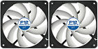 2 Pack Arctic Cooling F12 PWM Rev.2 120mm Case Fans 1350 RPM (AFACO-120P2-GBA01)