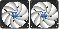 2 x Arctic Cooling F12 PWM Rev.2 120mm Case Fans 1350 RPM (AFACO-120P2-GBA01)