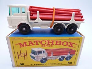 VINTAGE MATCHBOX LESNEY No.58c DAF GIRDER TRUCK IN ORIGINAL BOX 1968