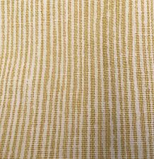 Groundworks Printed Linen Stripe Upholstery Fabric Sand Strie Chiffon 7.0 yd