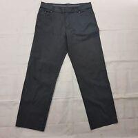Emporio Armani Trousers Classic Wide Leg Pockets Midi Rise Strip Pants W34 L28