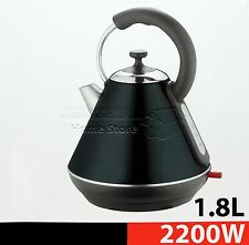 1,8 L Litro Cordless Bollitore Elettrico VELOCE bollire BROCCA FILTRO LAVABILE 2200 W Nero
