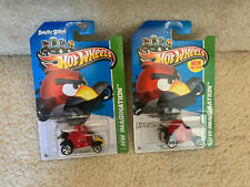 Hot Wheels Angry Birds RED Bird Die-Cast 1:64 Scale Car HW Imagination LOT of 2x