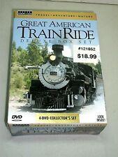 Travel Adventure Nature: Great American Train Ride (DVD, 2008) 4 Disc Set