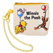 RARE! WINNIE THE POOH & FRIENDS COMMUTER PASS CASE WITH COIN CASE DISNEY STORE