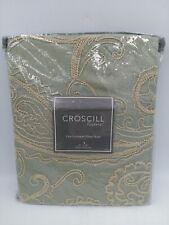 New Croscill Home Euro European Pillow Sham Mardi Grass 26x26 Sage