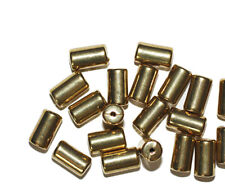 10mm Tube Cylinder Goldtone Metalized Metallic Beads