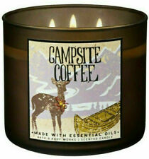 Bath Body Works CAMPSITE COFFEE 3 Wick Large 14.5  oz Candle Best Coffee scent