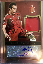 SANTI CAZORLA 2015 PANINI SELECT SOCCER JERSEY PATCH AUTO 140/179 SPAIN