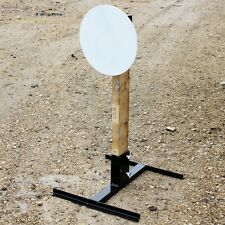 "12"" Round Gong USPSA Steel Target and Stand - DarkHorse Steel DHS500 ""AR500"""