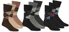 Pierre Roche Comfort Fit Non-Elastic Top Argyle Socks