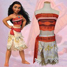 Girls Deluxe Moana Princess Fancy Dress Costume Kids Dress & Womens Dress B