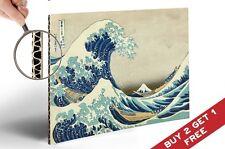 GRANDE ONDA DI KANAGAWA a4 poster in cartone ricoperto Vintage Arte Giapponese * xilografia