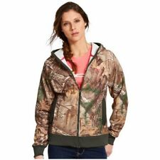 WOMENS UNDER ARMOUR FULL ZIP CAMO HOODIE JACKETF LEECE HUNTERS 1247102-946 LARGE