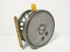 """Vintage Antique Hardy Silex No 2 Casting 4 ½"""" Fishing Reel - Factory Rim Cut Out"""