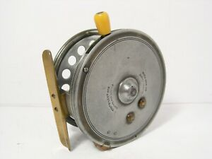 "Vintage Antique Hardy Silex No 2 Casting 4 ½"" Fishing Reel - Factory Rim Cut Out"