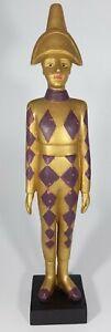 Harlequin Masquerade  Venezia ornamental Golden purple Diamonds statue