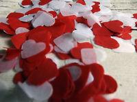 2000 Biodegradable Confetti tissue paper heart confetti white and Red wedding