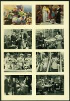 1940 A. & M. Wix Cinema Cavalcade Volume 2, Proof/Uncut Sheet, 8 Cards