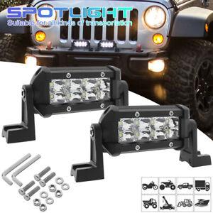2X 20W LED Work Spot Light Bar Car Truck Flood Fog Driving Lamp Offroad SUV ATVs