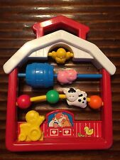 VTG FISHER PRICE DISCOVERY BEADS FARMHOUSE #1061 1991 BABY RATTLE ACTIVITY TOY