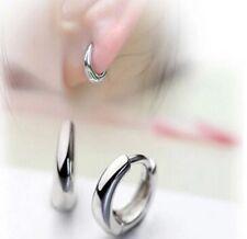 New Sterling Silver Plated Women Girls Small Round Loop Earrings Hoop Earrings