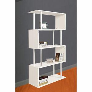 4 Tier Display Shelf Book Storage Bookshelf Shelving Bookcase White AU