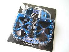 Warp 9 Billet Footpegs Blue Kawasaki KLX 450 KLX450 08 09 10 11 12 13 14 Warp9