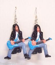 NEW Homies Rockabilly Mexican Hard Punk Rock w/ Guitar Figures Dangle Earrings