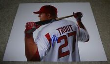 MIKE TROUT SIGNED 11x14 INCH BASEBALL PHOTO w/ PROOF! LOS ANGELES ANGELS AUTO