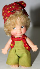 Uneeda All Rubber Doll Golden Hair Little People Doll W/Scarf Hong Kong Figure