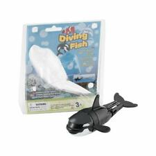 Diving Fish Toy Black Whale Batteries Powered Adjustable Durable Water Resistant