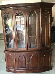 Pennsylvania house solid cherry dining table,and hutch