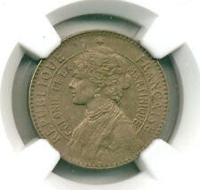 MARTINIQUE 1922 50 CENTIMES (KM#40) NGC AU 55 SCARCE THIS NICE