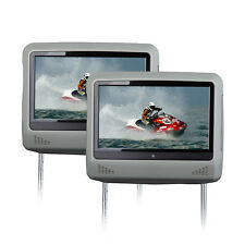 "Portable 2x9""Digital Touch Screen Car Headrest with DVD Player USB/SD/Game IR/FM"