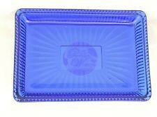 The Pioneer Woman Embossed Glass Cobalt Blue Soap Dish Bath & Kitchen New!